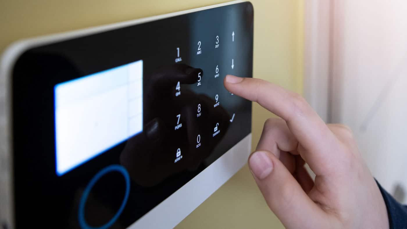 Smart home intruder alarm installed in Glasgow